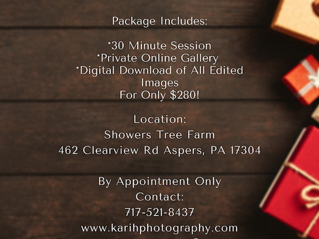 Holiday Mini Sessions at Showers Tree Farm