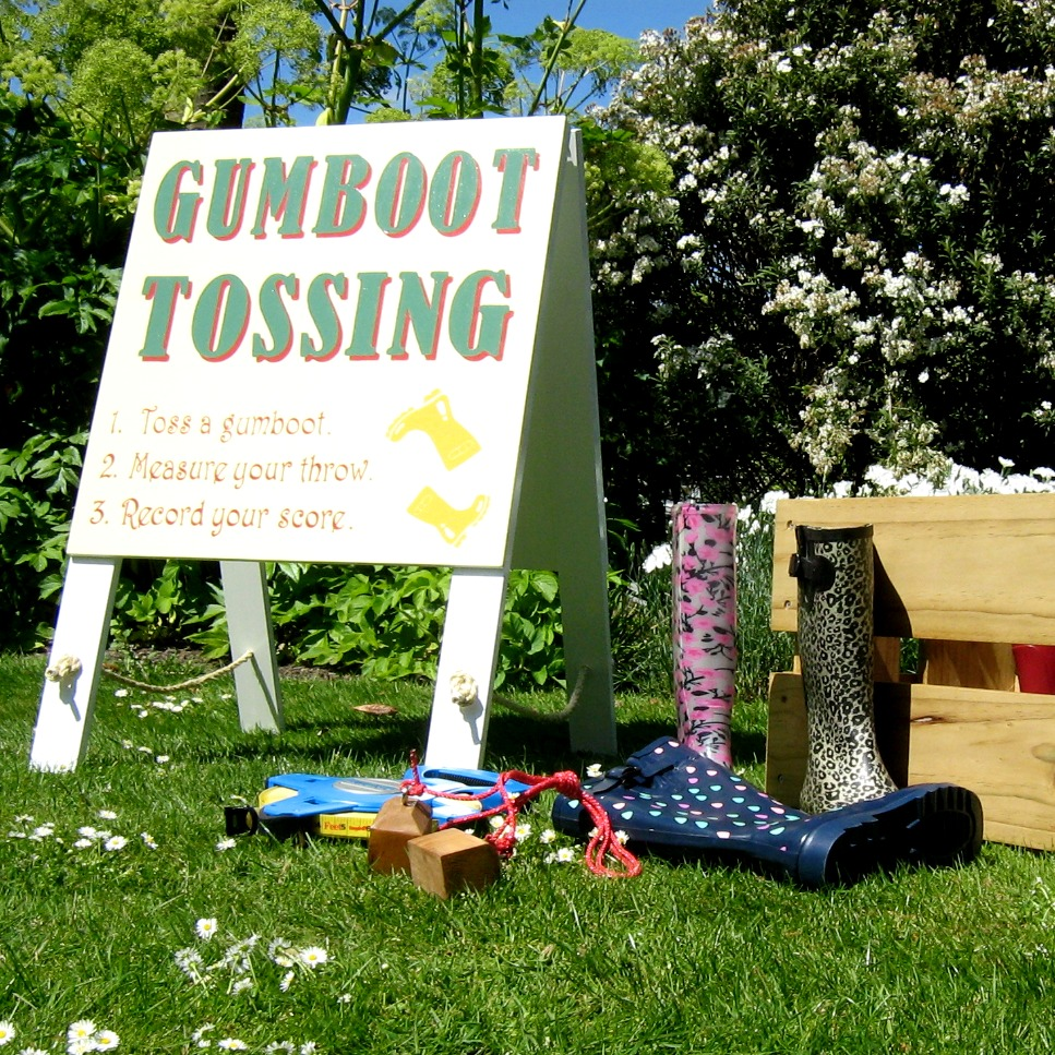 The Cheshire Cat Co Gumboot Tossing