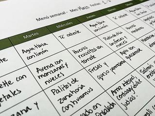 Beneficios de planificar un menú semanal