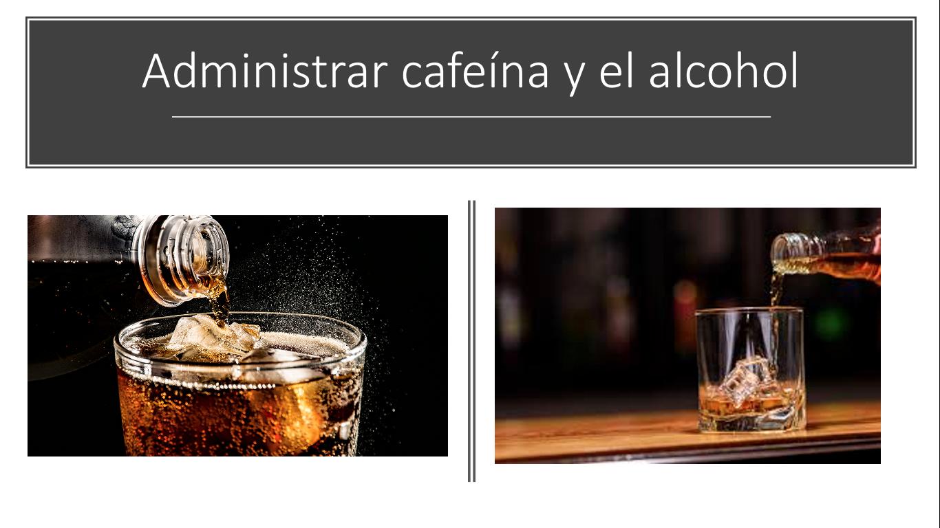 Cafeína y licor