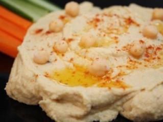 Hummus con vegetales
