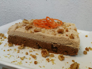 Mousse de queque de zanahoria