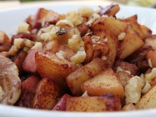 Manzanas calientes con canela (sin gluten)