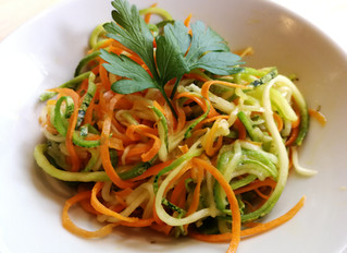 Espagueti de zucchini y zanahoria sin gluten