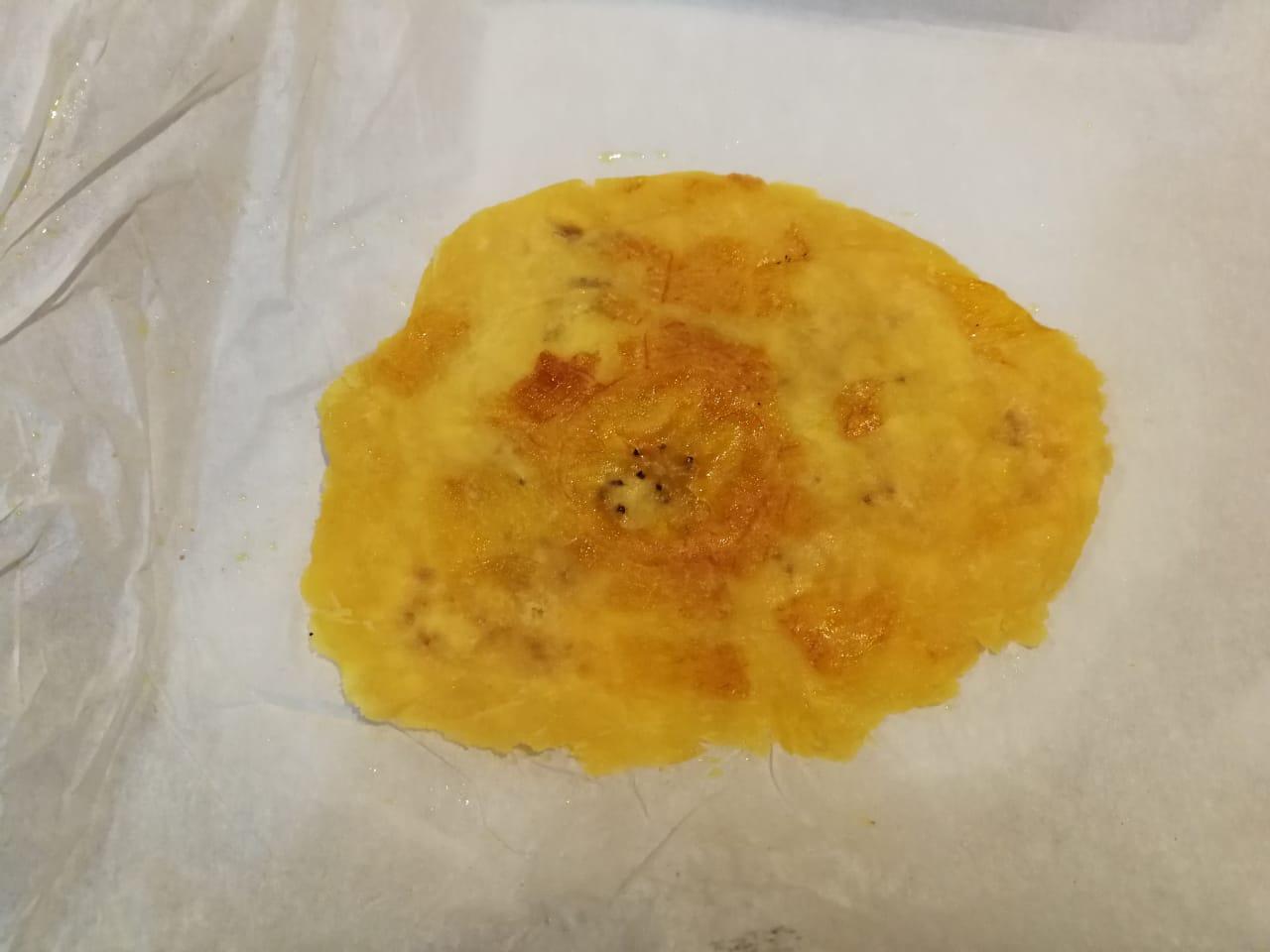 Aplastado con prensa de tortillas