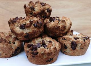 Muffins de chocochips sin gluten