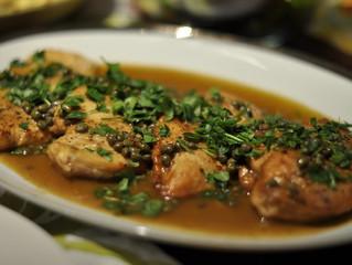 Pollo piccata sin gluten