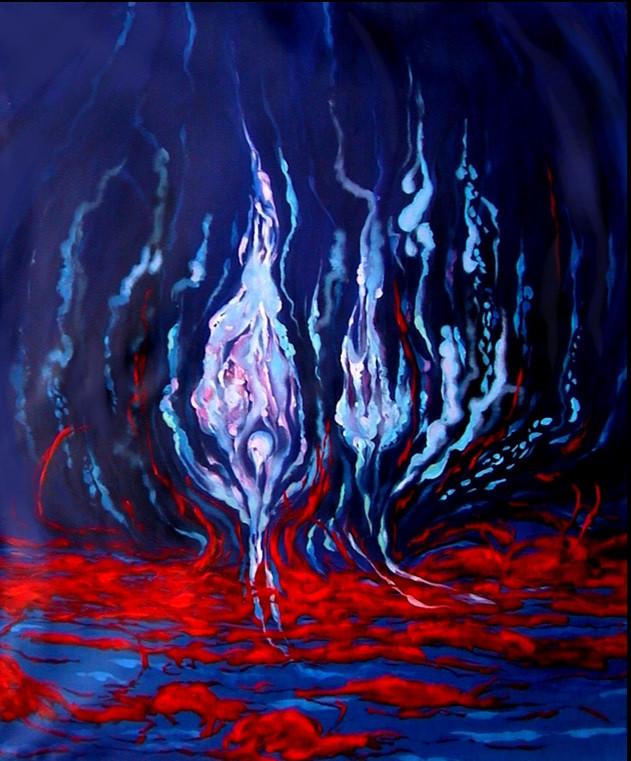 2003. Almas II 1.45 x 1.75 Mts - Oleo so