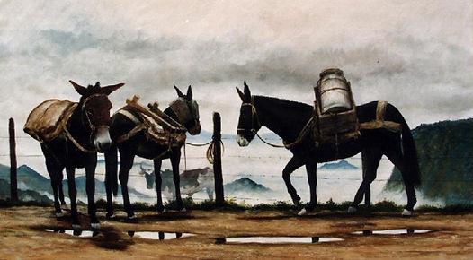 1988 - Mulas en el paramo 1.50 x 1.00 Ol