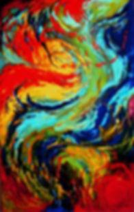 2003. Monadas II 0.88 x 1.40 Mts - Oleo