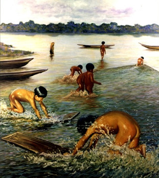 Niños en el aija