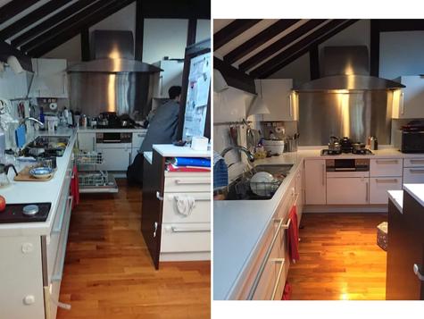 キッチン L型 before&after
