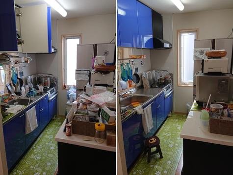 キッチンI型(吊戸棚付) before&after