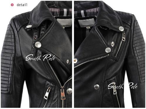 Leather Jacket Women Real Sheepskin Punk Rock | Unbeaten Deal ...