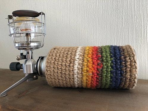 plus HEMP ガス缶(CB缶)カバー Rainbow