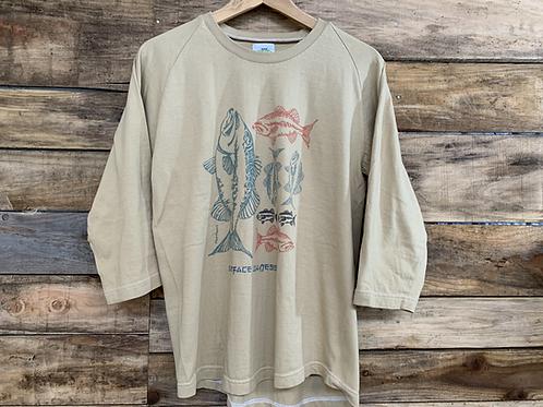 Hunthunt by goodbells / Want Fish Overdye Raglan Sleeve T-Shirts