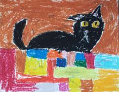 Le chat sur un muret