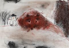 La sieste de l'ours dans la neige