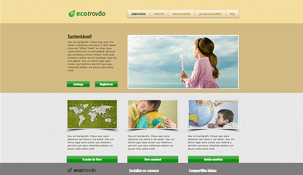 Comunidade website templates –  Terra Verde