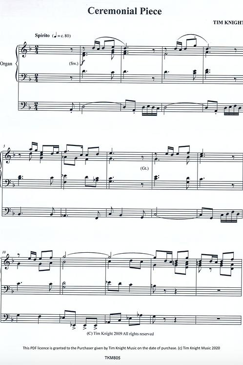 Ceremonial Piece for Organ (PDF Download)