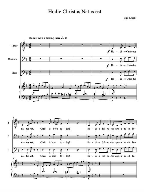 Hodie Christus Natus Est for MVC (PDF Download)