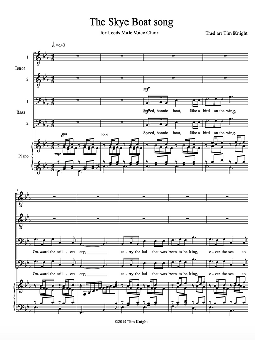 Skye Boat Song for MVC (PDF Download)