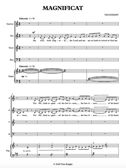 Evening Canticles (SATB)
