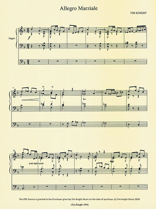 Allegro Marziale for Organ (PDF Download)