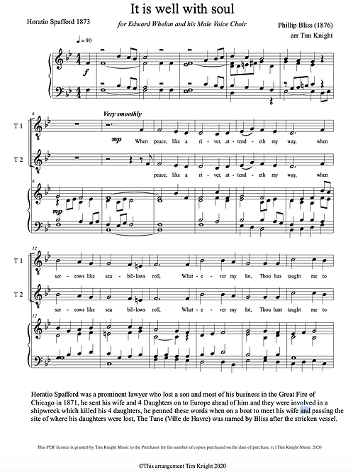 It is well with my soul for MVC (PDF Download)