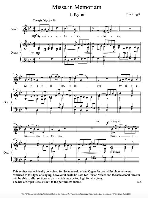 Missa in Memoriam (PDF Download)