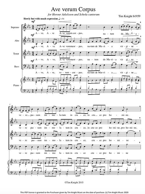 Ave Verum Corpus (PDF Download)