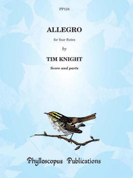 Allegro for four flutes
