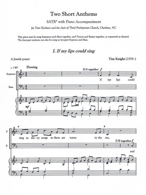 2 Short Anthems (PDF Download)