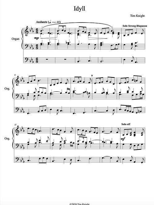 Meditations (3 pieces for Organ) (PDF Download)