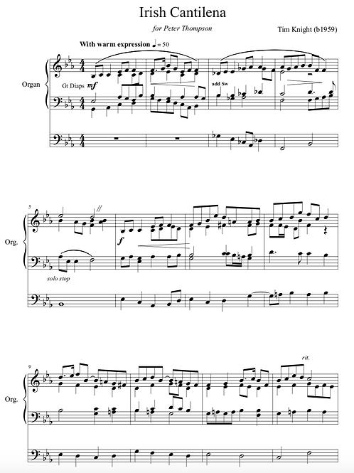 Irish Cantilena for Organ (PDF Download)