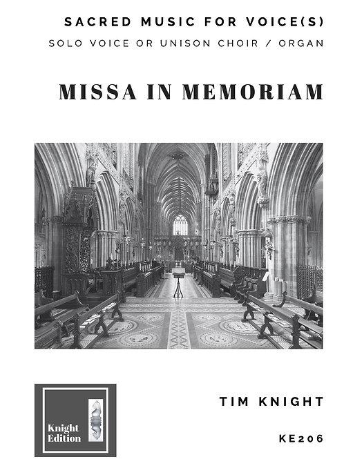 Missa in Memoriam (Solo Voice or Unison Choir)