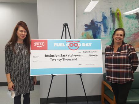 Fuel Good Day Raises $20,000 for Inclusion Saskatchewan