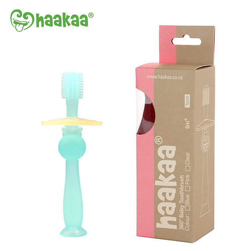 Escova de dente de silicone Haakaa 360º - Azul