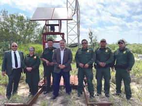 Border Patrol Installs Rescue Beacon in Rio Grande City
