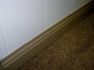 Always sharp lines on trim and baseboard