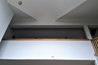 New walls and ceiling