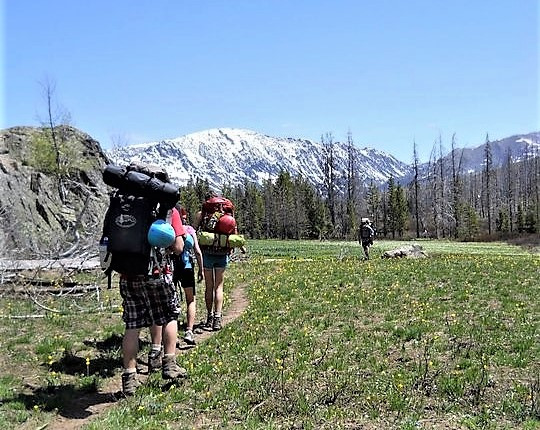 High alpine backpacking expedition