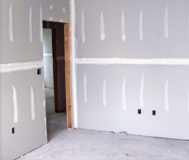 New walls; drywall repair.