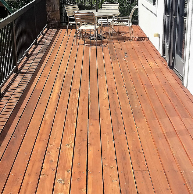 Deck construction and stain