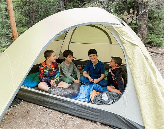 Boys in tent at Shwayder Camp