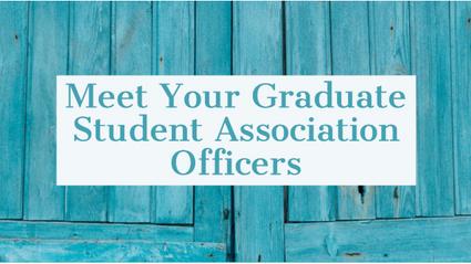"Simon elected as ""Student Ambassador"" of the Graduate Student Association"
