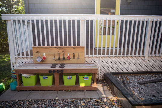 Mud Kitchen and Car Track Pit