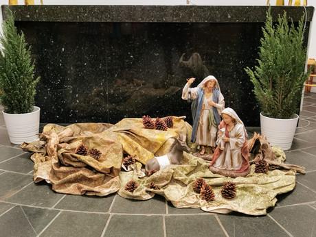 Maria og Josef på vei til Betlehem