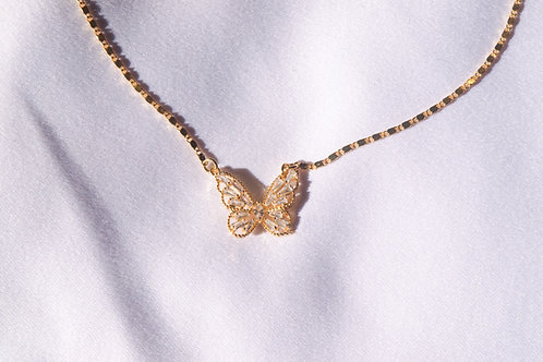 """Fly Away"" Butterfly Gold Plated Necklace"