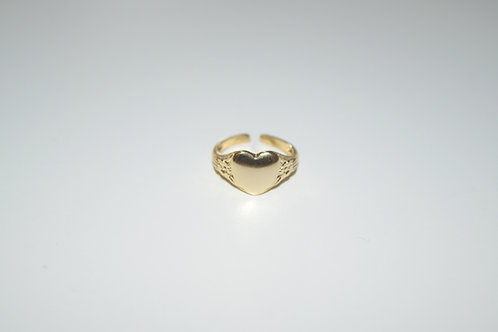 """Heart Of Gold"" Gold Plated Ring"